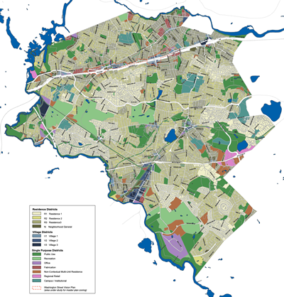 Proposed Zoning Map, Newton MA
